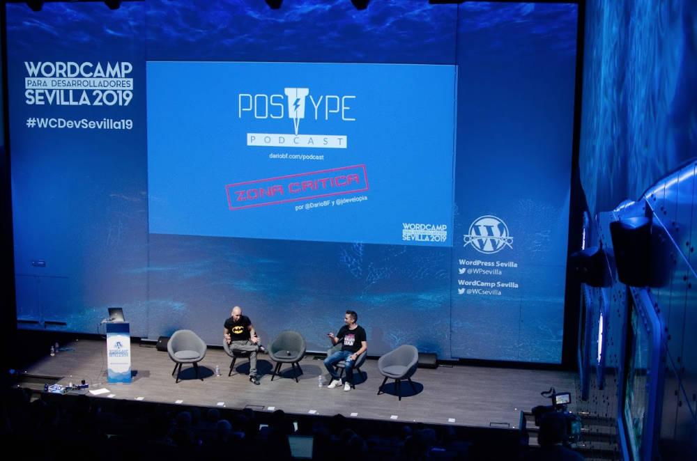 Zona Crítica en directo, en WordCamp para desarrolladores Sevilla 2019
