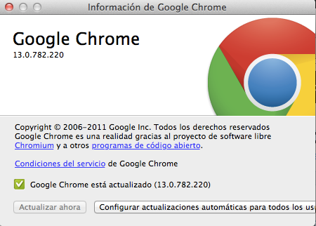 Actualizaciones Google Chrome OSX DarioBF