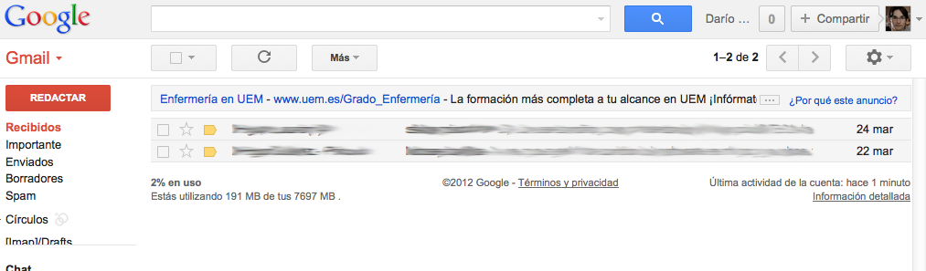 bandeja entrada gmail