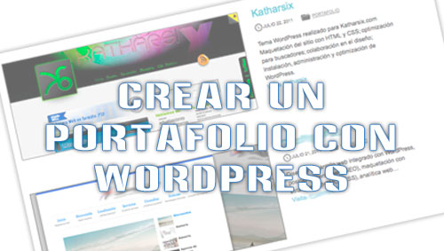 Crear portafolio WordPress