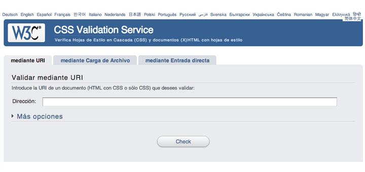 validador CSS