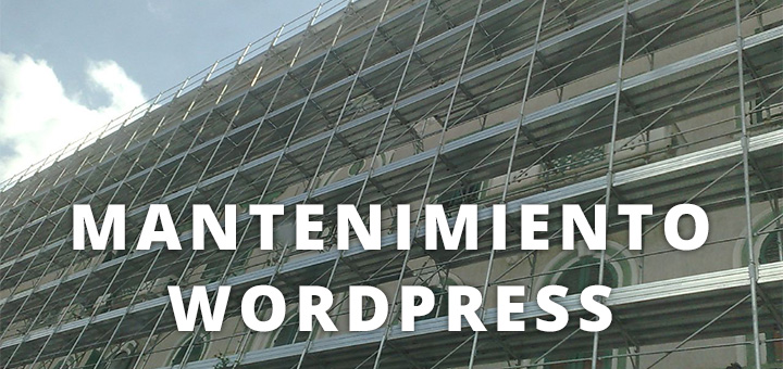 mantenimiento enWordPress