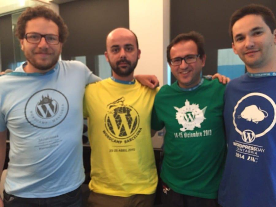 Pantxo (WP Mallorca), Javier (WP Barcelona), Luis Rull (WP Sevilla) y yo (WP Cantabria)